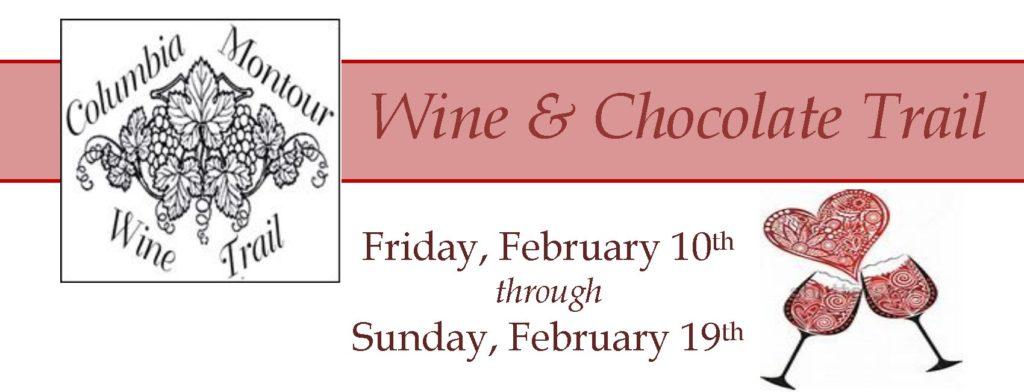 Winw & Chocolate Trail Friday Feb 10 through Sunday Feb 19, 2017