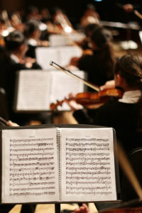 music stands of orchestra by Adamara http://UnSplash.com/@adamara