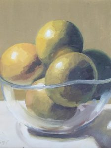 Green apples in glass bowl Artspace Gallery Bloomsburg PA