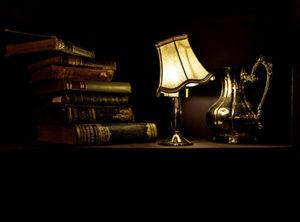 Antique books, lamp, pitcher by Jez Timms @https://unsplash.com/@jeztimms
