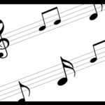 musical notes on staff