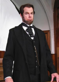 performer dressed as Lincoln