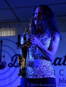 Vanessa Collier playing saxophone