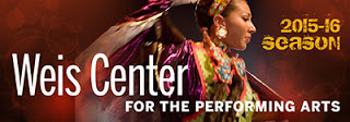 2015-16 Season Weis Center For the Performing Arts poster of woman performing