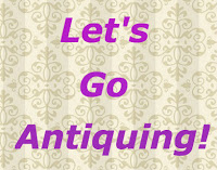 "pink quote ""lets go antiquing"" - beige vintage wallpaper"