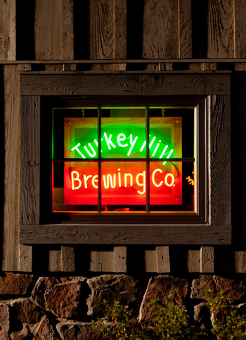 neon sign of Turkey Hill Brewing Co.